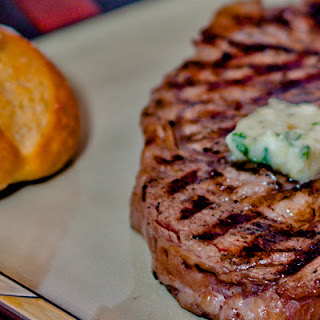 Bison Ribeye Steaks with Gorgonzola Butter & Rosemary