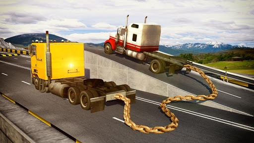 Chained Trucks against Ramp for PC