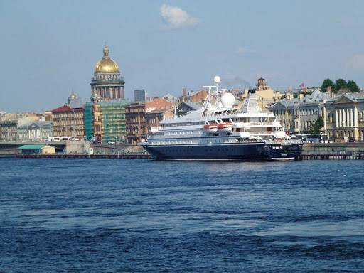 st-petersburg-russia-seadream.jpg - SeaDream I is small enough to dock right in the heart of St. Petersburg, Russia.