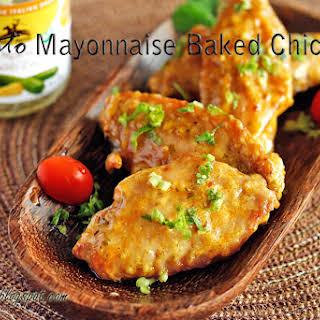 Pesto Mayonnaise Baked Chicken Wings.