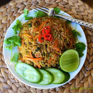 Vegan Nasi goreng with zucchini rice