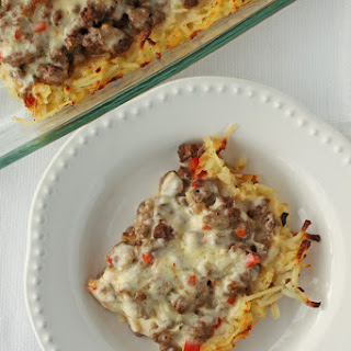 Cheesy Cajun Beef and Potato Bake