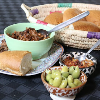 Moroccan Tagine Sandwiches with Onion Jam and Olives