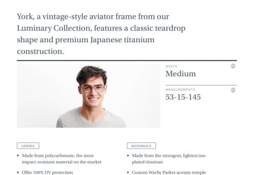 York in Brushed Navy - Eyeglasses - Men | Warby Parker-2