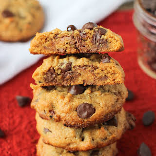 Loaded Chocolate Chip Reese's Peanut Butter Cookies.