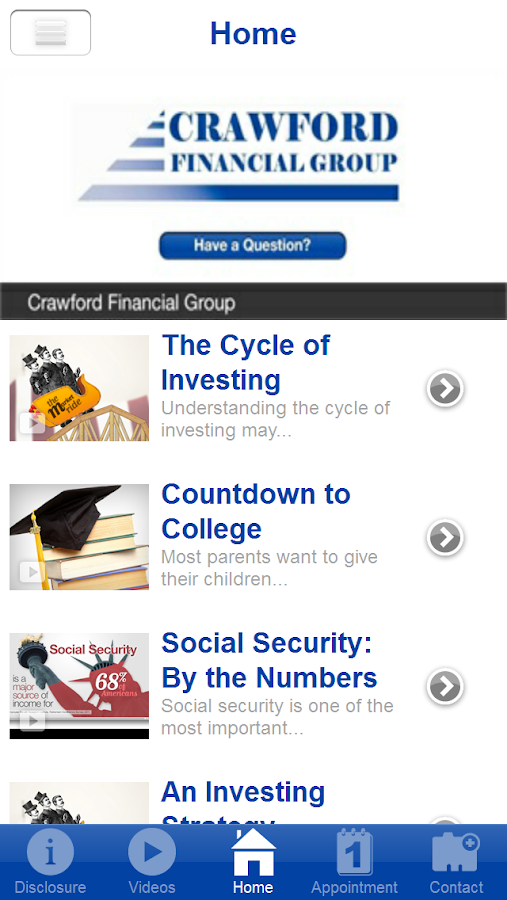 Crawford Financial Group- screenshot