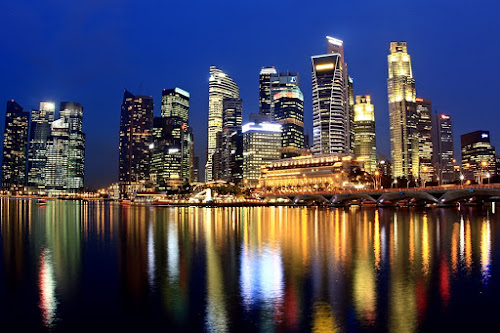 The city & reflection by Barry Allan - City,  Street & Park  Skylines