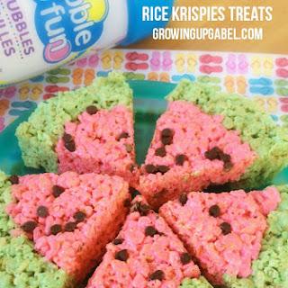 Watermelon Rice Krispie Treats.