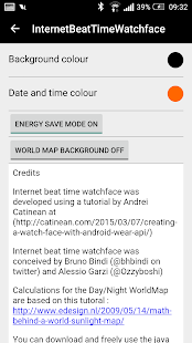 Internet Beat Time Watchface - náhled