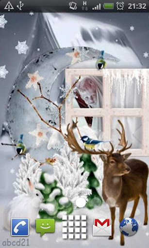 Christmas Reindeer L Wallpaper
