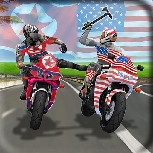 USA vs North Korea Bike Attack Fighting War Race