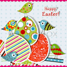 Photo: Template Easter greeting card, vector illustration