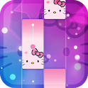 Magic Cat Piano Tiles - Crazy Tiles Pink Girly icon