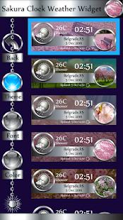 Sakura Clock Weather Widget - náhled
