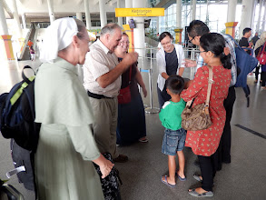 Photo: Our MTM ministry team Meeting our Indonesia native coordinator Richard Anderson and his wife Meiland and their son Martin Luther at the Medan airport.