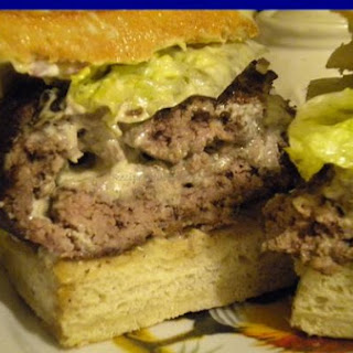 Garlic Herb Cheese Stuffed Burgers