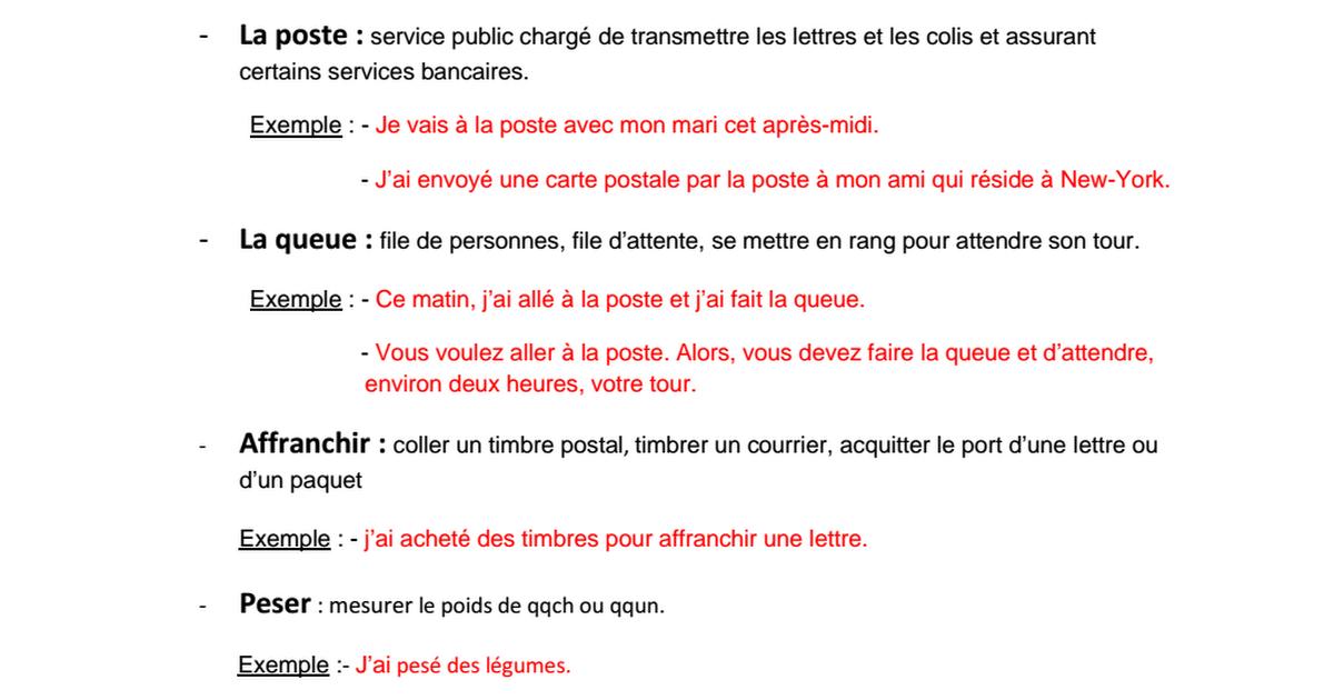 exemple de carte postale pour des amis vocabulaires_La poste.pdf   Google Drive