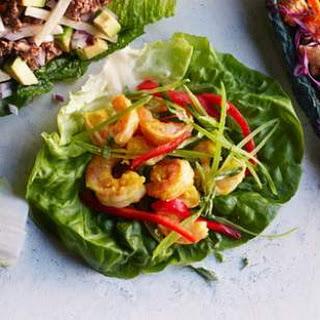 Curried Shrimp Lettuce Wraps