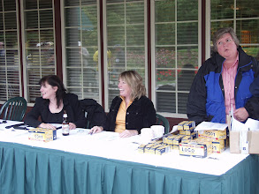 Photo: Cynthia Gillis, Christine Kemp & Cathy Godin, at the registration desk