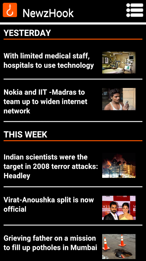 Newz Hook - Accessible News- screenshot