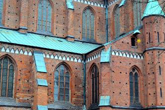 Photo: Doberan Ca. 4 Millionen Backsteine (sogenanntes Klosterformat) sind für den Bau des Gotteshauses verwendet worden. Jeder Ziegelstein wiegt bis zu acht Kilogramm. Demnach ist das Münster ungefähr 32 000 Tonnen schwer.