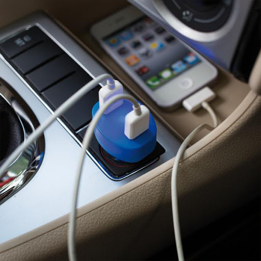 Double USB Car Charger for Branding