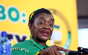 ANC Womens' League President Bathabile Dlamini addresses the media about the loss of their ANC Presidential candidate, Dr Nkosazana Dlamini Zuma.