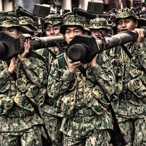 Strong Enough by Muhammad Muqri - People Street & Candids ( army, soldier, candid, war, military )