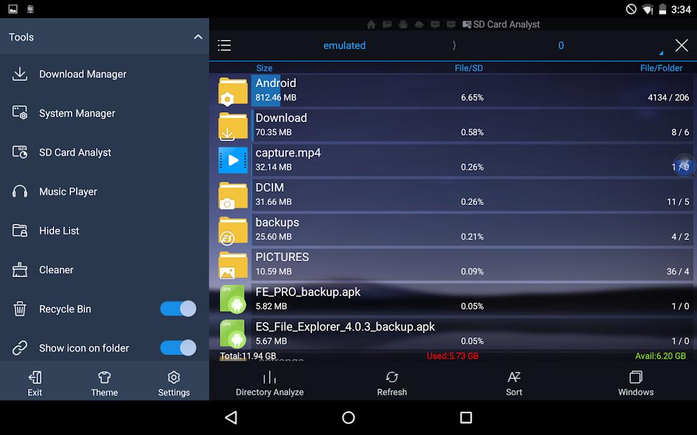 es file explorer apk android 4.0