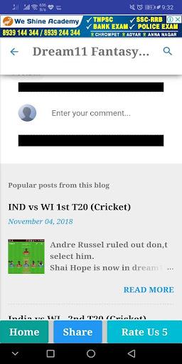 Dream11 Pro Cricket,Kabaddi,Hockey Predictions 2.0 screenshots 8