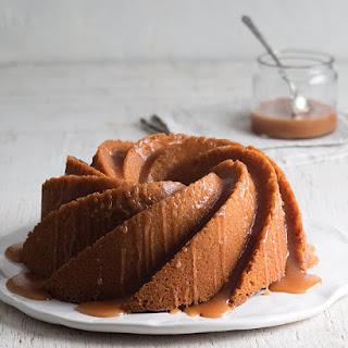Vanilla Bundt Cake with Bourbon-Vanilla Caramel Sauce.