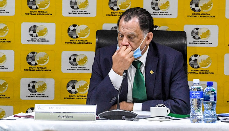 Safa president Danny Jordaan at Safa House on September 19 2020 in Johannesburg, South Africa.