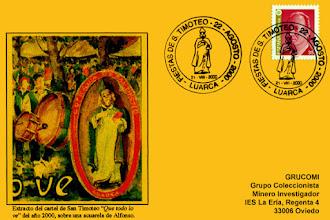 Photo: Tarjeta del matasellos de las fiestas de San Timoteo de Luarca