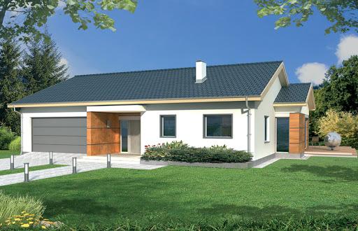 projekt Agatka wersja A dach 22 stopnie