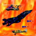 Fighter jet combat game icon