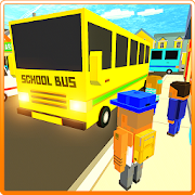 Game Cube Craft Pixel School Bus 3D APK for Windows Phone