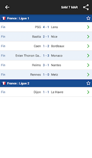 Résultats Foot en Direct - screenshot thumbnail
