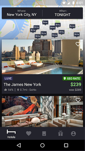 HotelTonight: Book amazing deals at great hotels screenshots 1