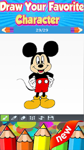 How to Draw Mickey Mouse From disney Cartoon - náhled