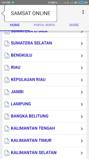 Samsat Online 1.8 screenshots 2