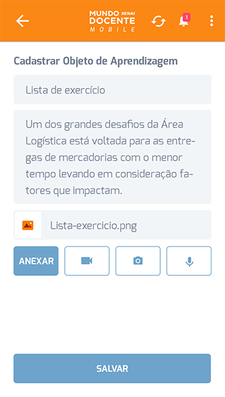 Mundo Senai Docente Mobile- screenshot