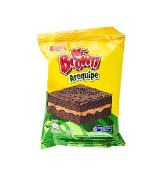 Ponqué Bimbo Brownie   Arequipe Paquete X1Und. X75G.