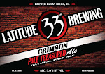 Latitude 33 Crimson Pale Treasured Ale