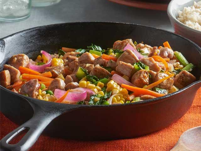 Spicy-Sweet Pork Stir Fry Recipe