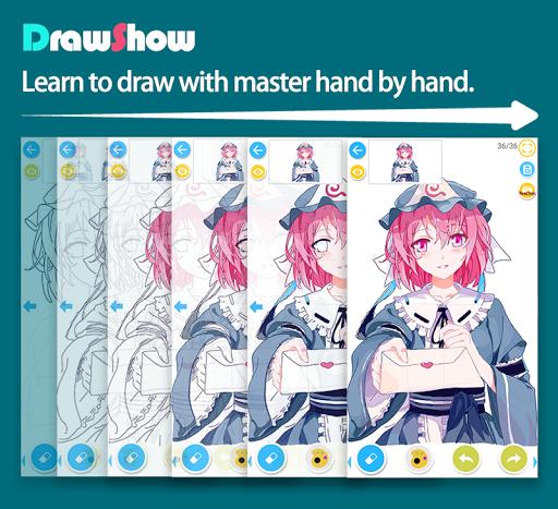 DrawShow: Anime Manga Tutorial 3.3.2.6 screenshots 1