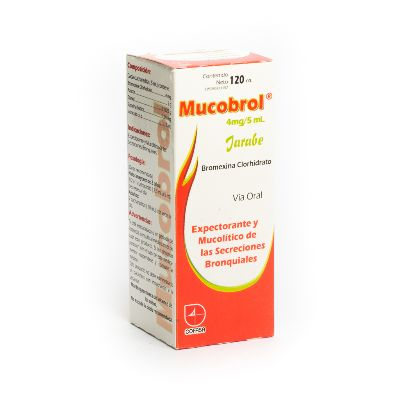 Bromhexina Mucobrol 120Ml Jarabe Cofasa Cofasa