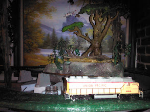 Photo: Model train downstairs