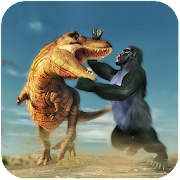Gorilla Battle: Dinosaur World Survival