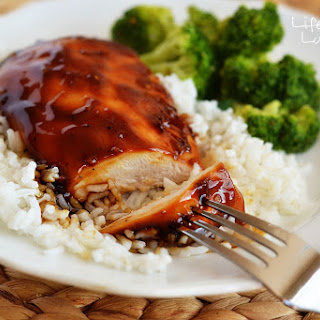 Baked Teriyaki Glazed Chicken.
