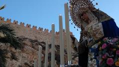 Imagen del rosario de la aurora celebrado con motivo del 75 aniversario de los Estudiantes.